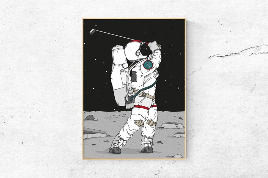 """GOLF ON THE MOON"""