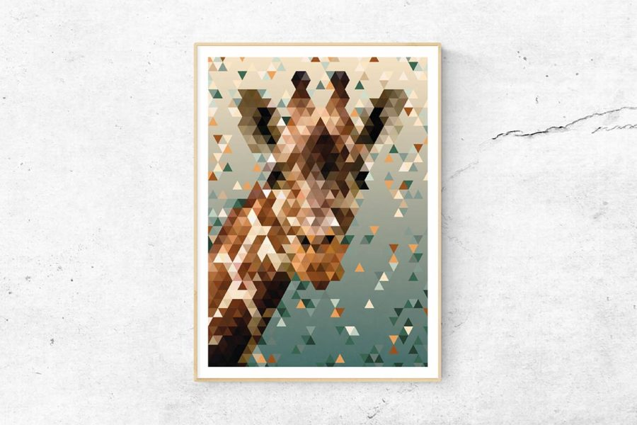 "Polygonprint ""Giraffe"""