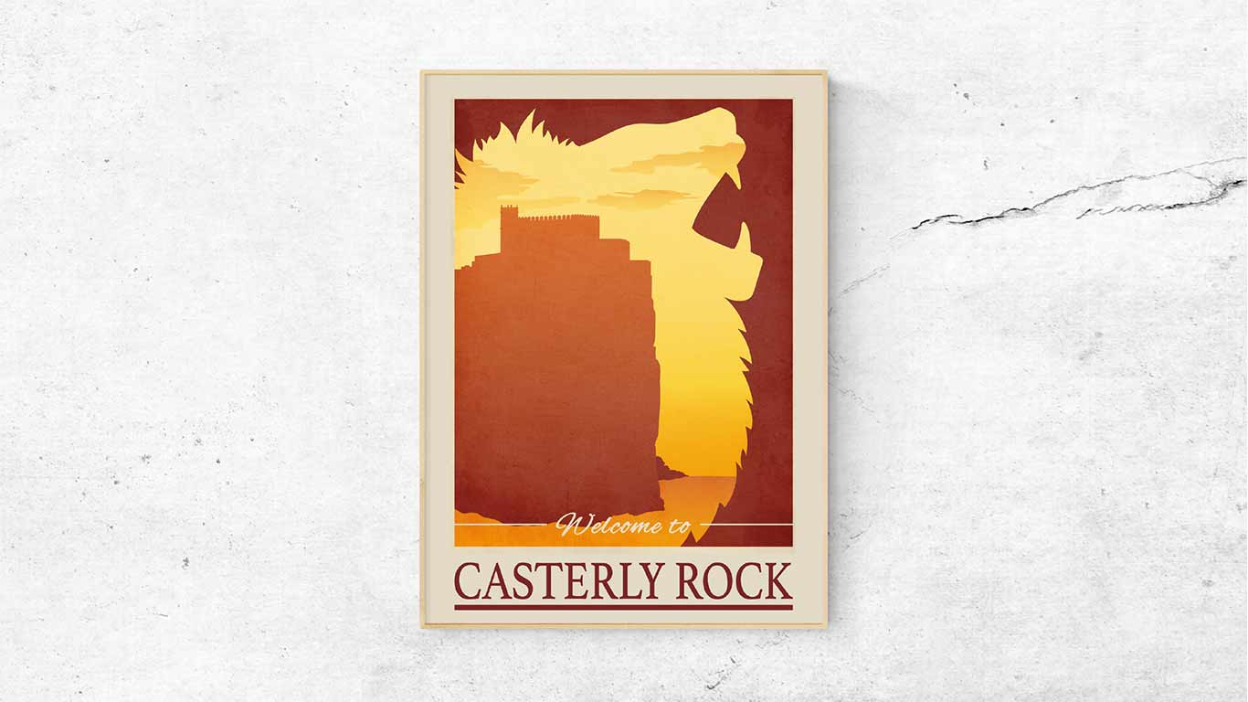 "Poster ""Casterly Rock"" - digitale Illustration"