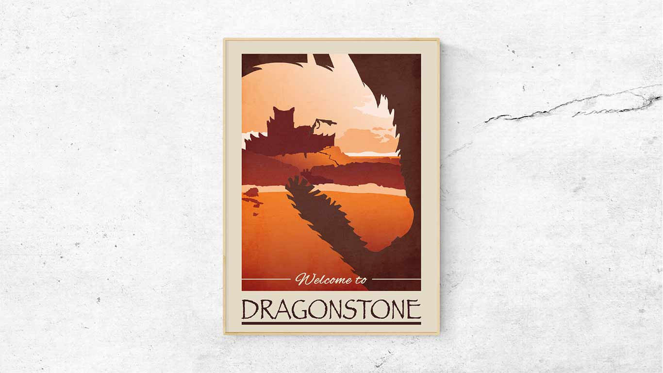 "Poster ""Dragonstone"" - digitale Illustration"