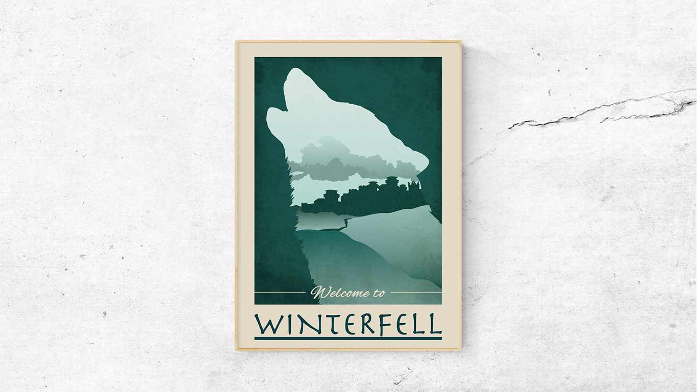 "Poster ""Winterfell"" - digitale Illustration"